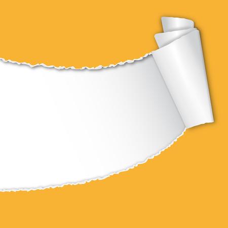shredded: torn up paper yellow Illustration