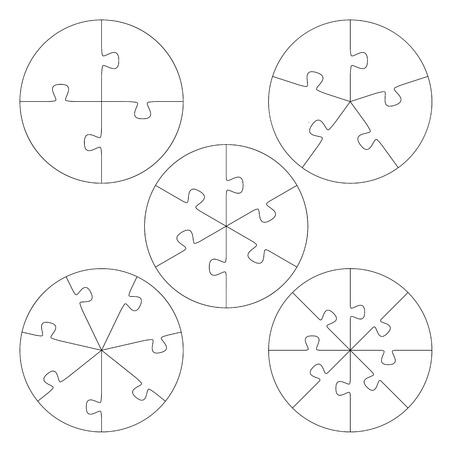 Collection - Round Puzzle Templates Royalty Free Cliparts, Vectors ...