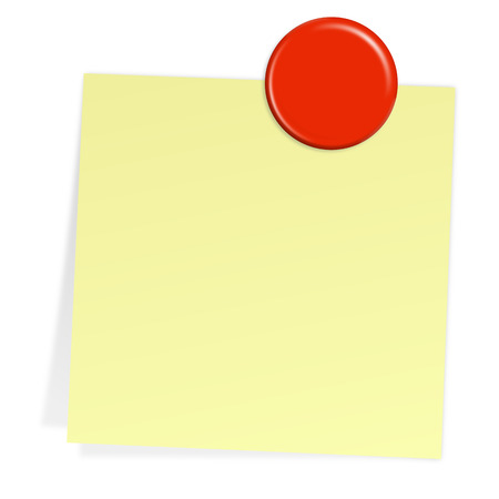 sticky note with magnet Vector