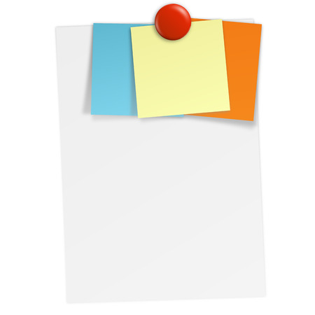 sheet with sticky notes and magnet Vector