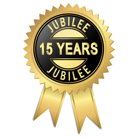 golden seal of quality - 10 years Vector