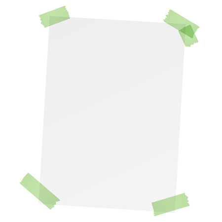 free copy paper with adhesive tape Vector