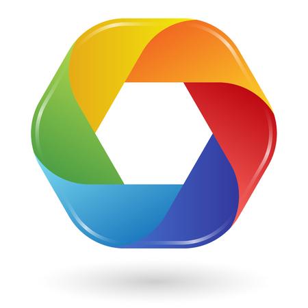 Illustration  template design 6 colors Vector