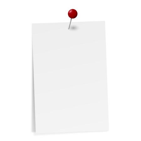 kleverige nota met pin naald Vector Illustratie