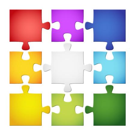 creador: colección pieza del rompecabezas de colores