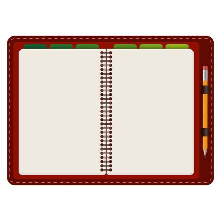 chit: open notebook Illustration