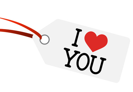 hangtag with I LOVE YOU Vector