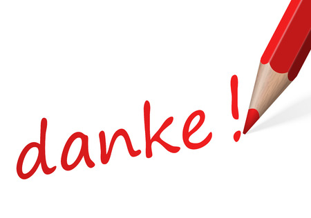pen with text danke  Illustration