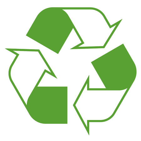 waste recovery: icon recycling green
