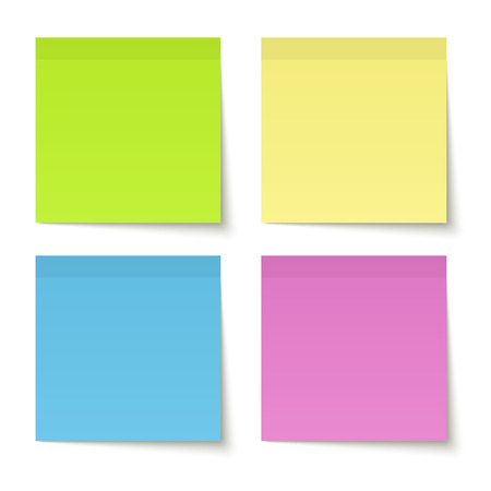 sticky note: collection of sticky notes colored
