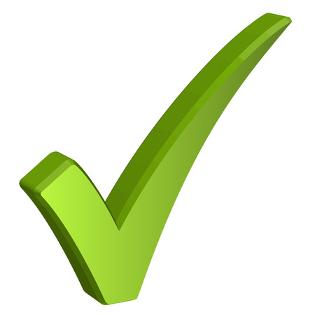 web survey: tridimensional gancho verde Vectores