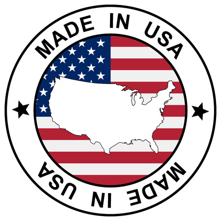 sticker Made in USA Vector