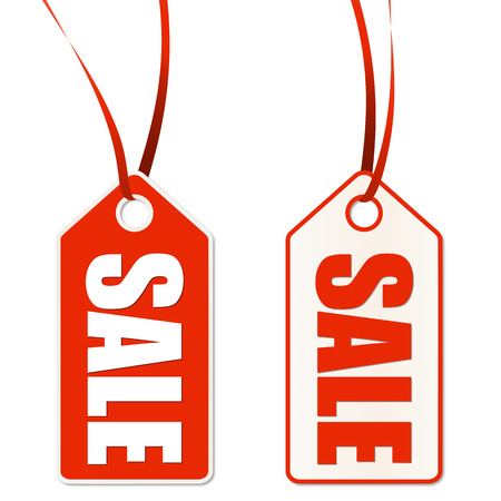 end of summer: two hangtags with SALE