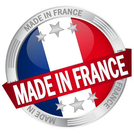 button with banner - made in france Vector