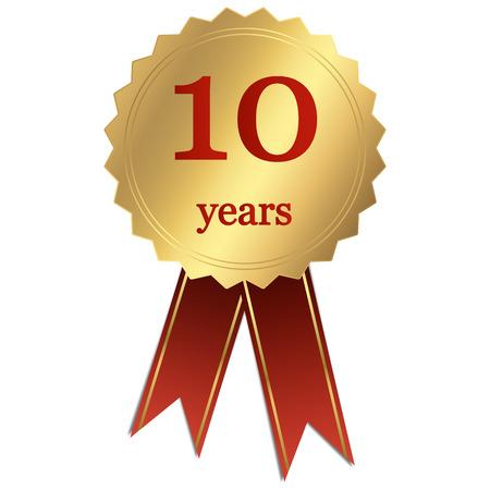 seal jubileum - 10 jaar Stock Illustratie