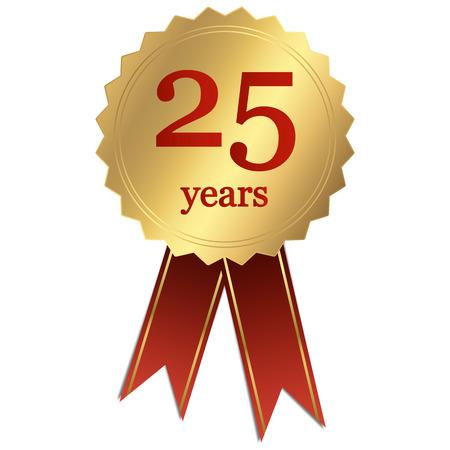 seal jubilee - 25 years Vector