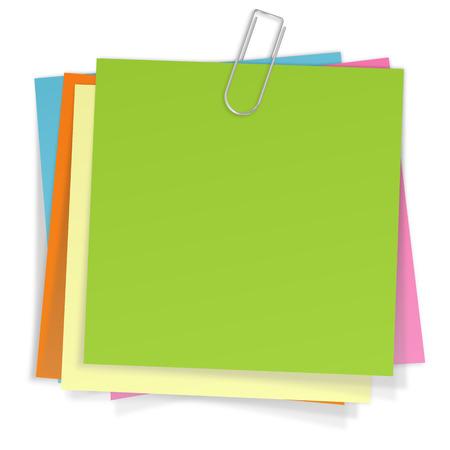 sticky notes: vele sticky notes met paperclip
