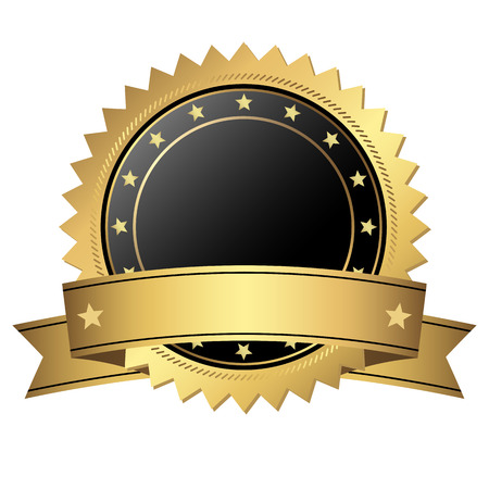 approval button: golden button with banner template