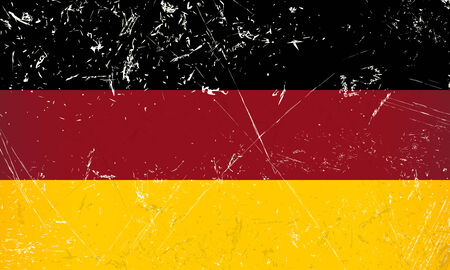 germany country flag with scratches