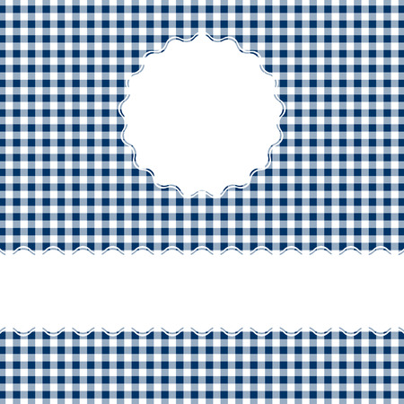 banderole: checkered table cloth background with banner