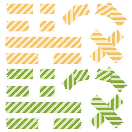 gekleurd plakband bekleed
