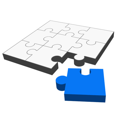 puzzle - it fits   Ilustração