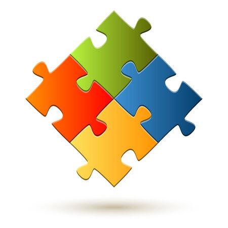 teamwork - puzzle symbolism Vector