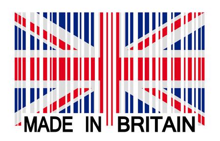 bar code Britain - made in britain Vector