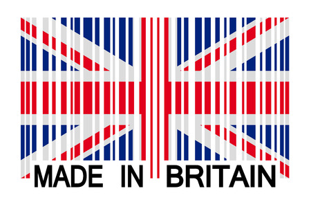 ean: bar code Britain - made in britain Illustration