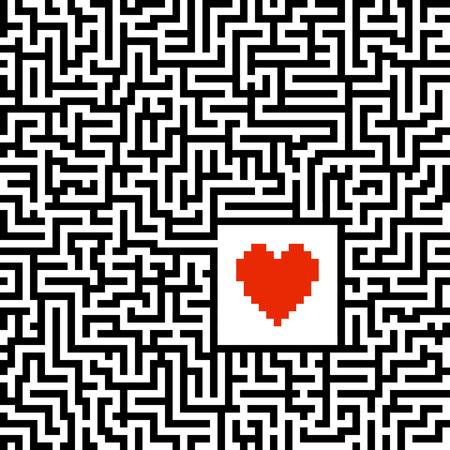 searh: searh for love maze Illustration