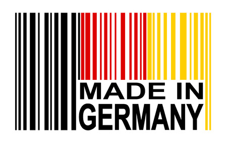internationally: bar code MADE IN GERMANY