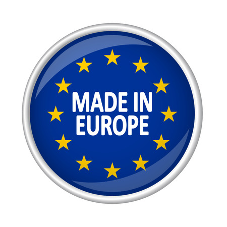 internationally: button MADE IN EUROPE