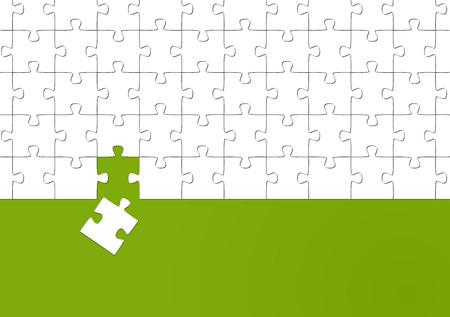 solve a problem: puzzle - it fits   Illustration