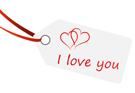 hangtag: hangtag with I LOVE YOU
