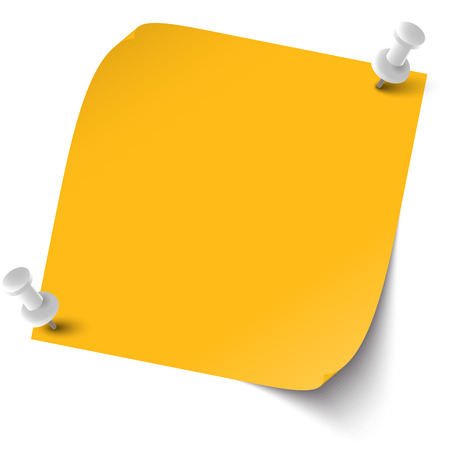 chit: sticky note with pin needles