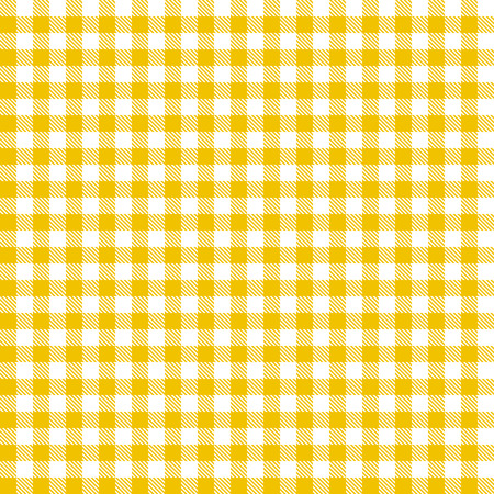 yellow checkered table cloth background seamless