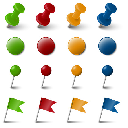colored pin needle collection Banco de Imagens - 29618124