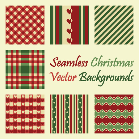 continuously: seamless background collection for christmas Illustration
