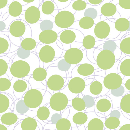 continuously: seamless background - green and blue circles Illustration