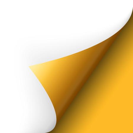 lacrime: Angolo di carta turn over giallo