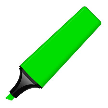 green textmarker Illustration