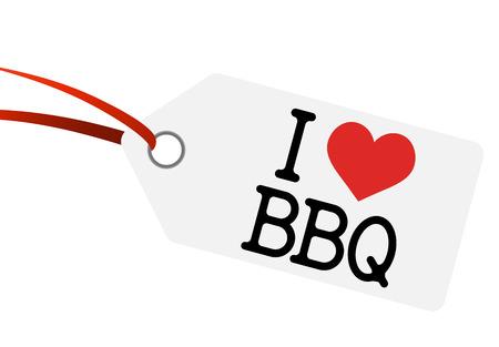 hangtag: hangtag with I LOVE BBQ Illustration