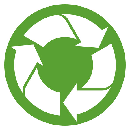 waste recovery: recycling sign