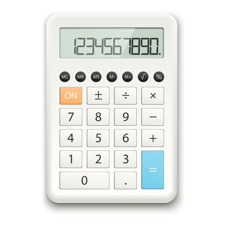 computerized: white calculator
