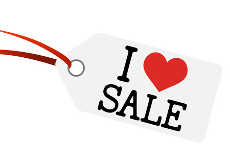 favorable: hangtag with I love sale