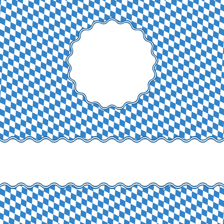beer garden: Oktoberfest colored background with banners