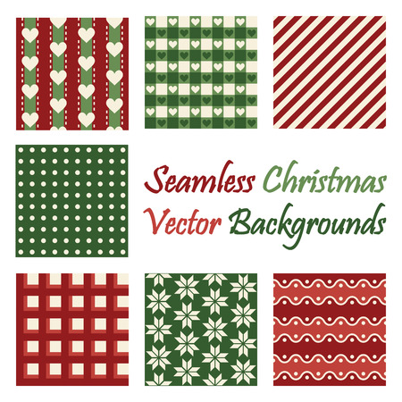 continuously: collection of seamless christmas backgrounds