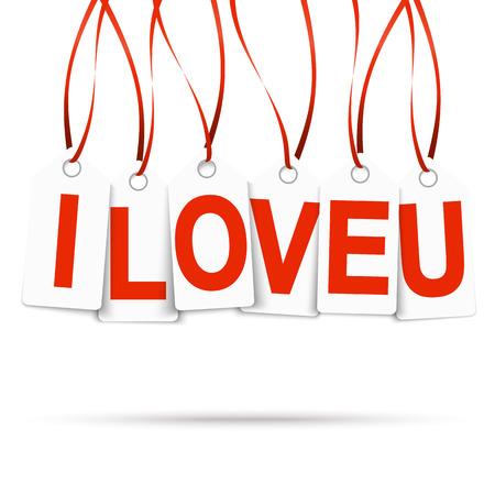 hangtag: hangtags with I LOVE YOU