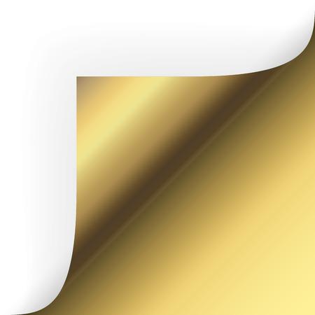 chit: paper corner turn over gold Illustration