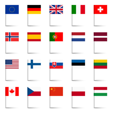 flags of the world 02 Illustration